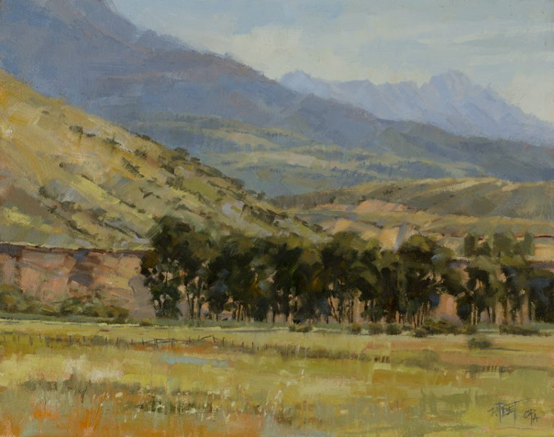 Darcie Peet Time To Hay western landscape farm ranch oil painting