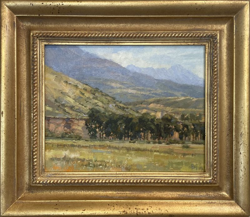 Darcie Peet Time To Hay western landscape farm ranch oil painting framed