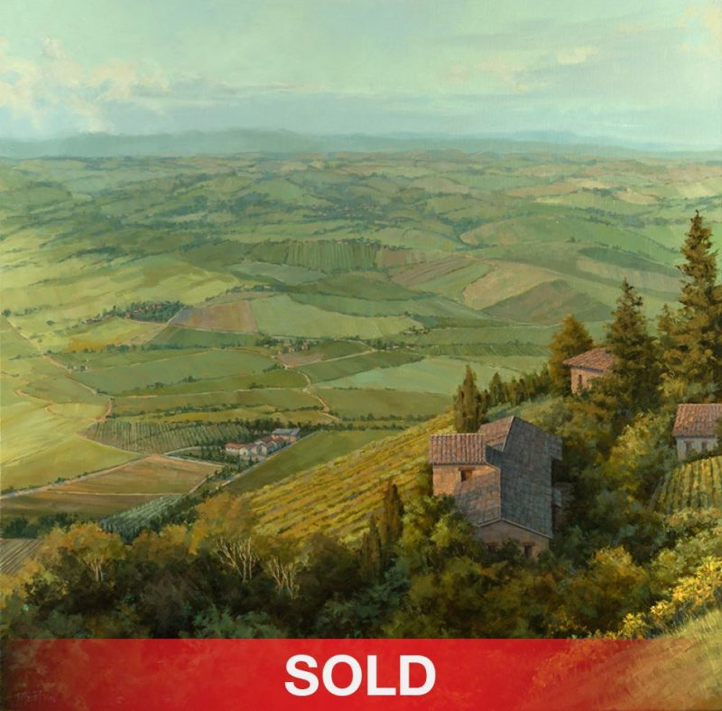 Darcie Peet Up To Montalcino - Tuscany landscape Italy oil painting sold