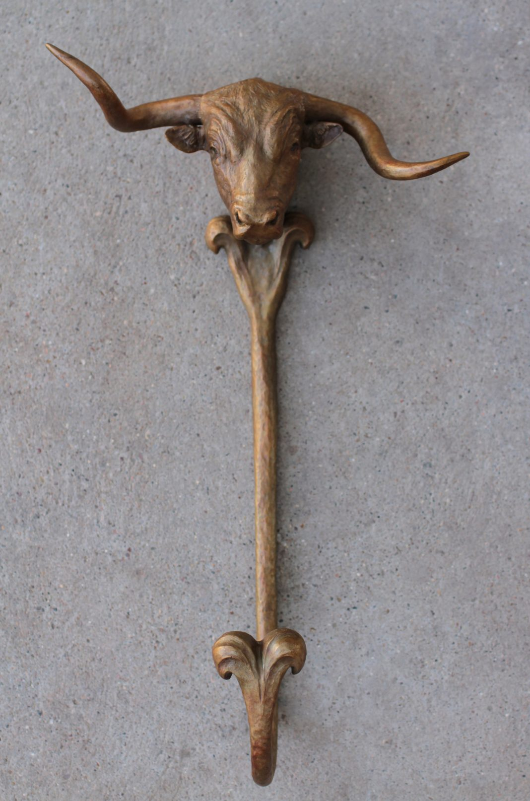 Mary Ross Buchholz Crooked Hat Wall Hanger longhorn cow cattle western bronze sculpture