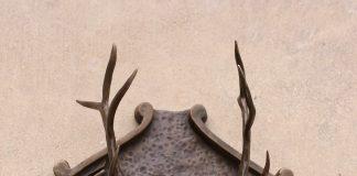 Mary Ross Buchholz Elk Head Wall Hanger wildlife western bronze sculpture