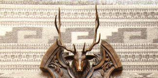 Mary Ross Buchholz elk stag mirror wildlife sculpture western bronze