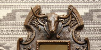 Mary Ross Buchholz longhorn mirror western sculpture western bronze cattle