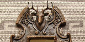 Mary Ross Buchholz Whitetail deer mirror sculpture wildlife western bronze