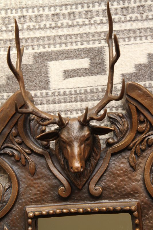 Mary Ross Buchholz elk stag mirror wildlife sculpture western bronze close up