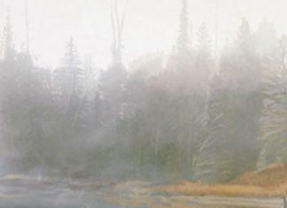 Terry Isaac Call Of Autumn eagle original wildlife painting