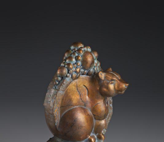 Tim Cherry Boulder Den bear wildlife bronze sculpture