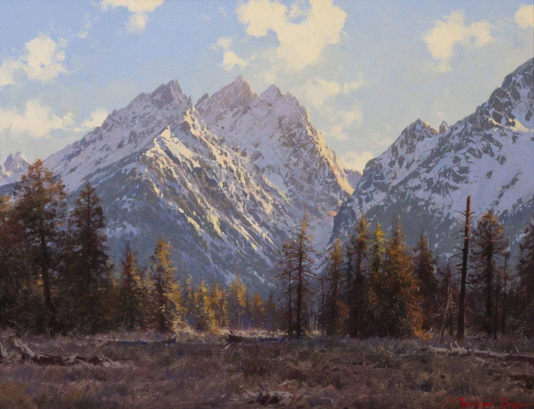 Francois Koch The Teton Range Wyoming mountains landscape western oil painting