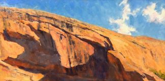 Lorenzo Chavez Shadows On The Mesa western oil landscape painting