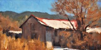 Lorenzo Chavez This Old House Colorado New Mexico architecture western landscape oil painting