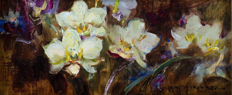 Daniel Gerhartz Orchid Lyric flower floral still life oil painting