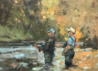 Gene Costanza Any Second Now fishing fly fish Scott Christensen stream river landscape oil painting