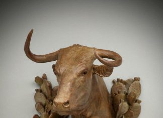 Jason Scull Brush Country Madonna longhorn cattle cow western bronze sculpture