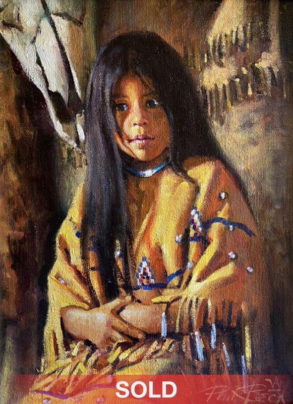 Phil Beck Treasures Past Native American western oil painting