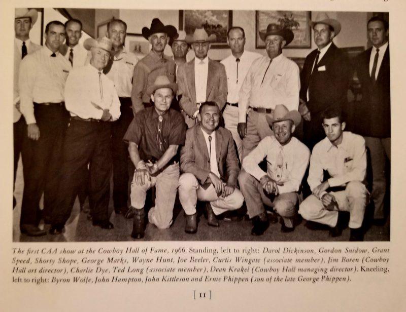 Cowboy Artists of America 1996 members and associate members at show