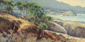 Jim Morgan China Cove ocean beach surf seascape oil painting
