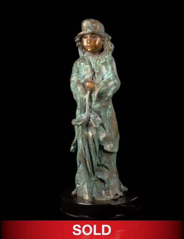 Glenna Goodacre Liza woman girl lady figure figurative bronze sculpture sold