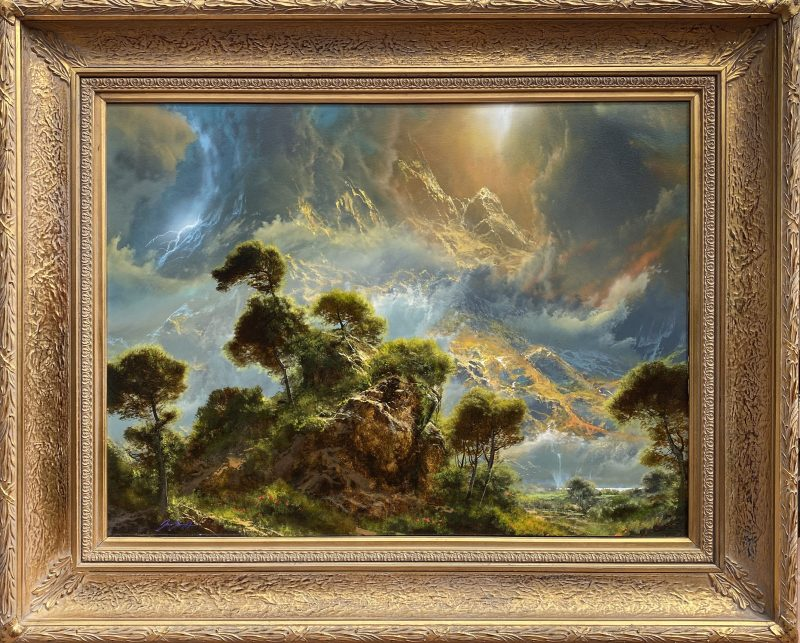 Dale Terbush When Your Heart Beats In Eden tree cloud mountain landscape framed