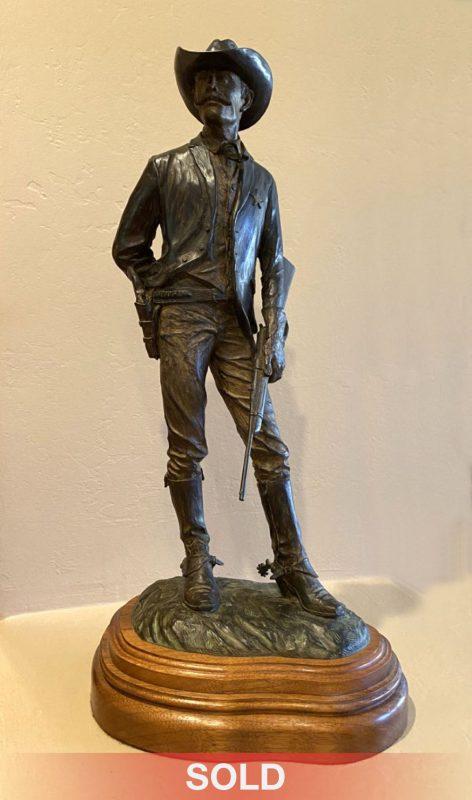 Bill Nebeker The Ranger Texas Ranger cowboy police officer sheriff bounty western bronze sculpture sold