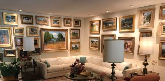 art home interior real estate collection painting sculpture