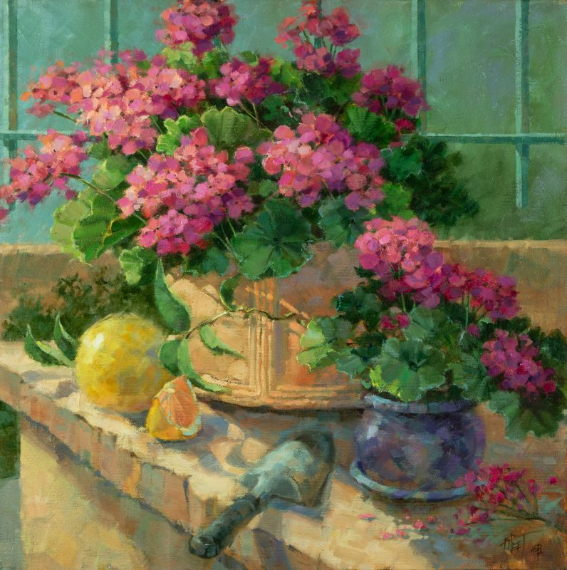 Darcie Peet Just Picked Just Planted flowers floral still life oil painting