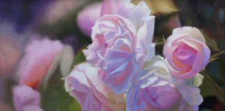 John Cox Peonies flower floral oil painting