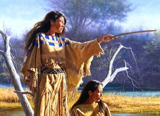 Alfredo Rodriguez Daughters of Nature Native American woman women western oil painting