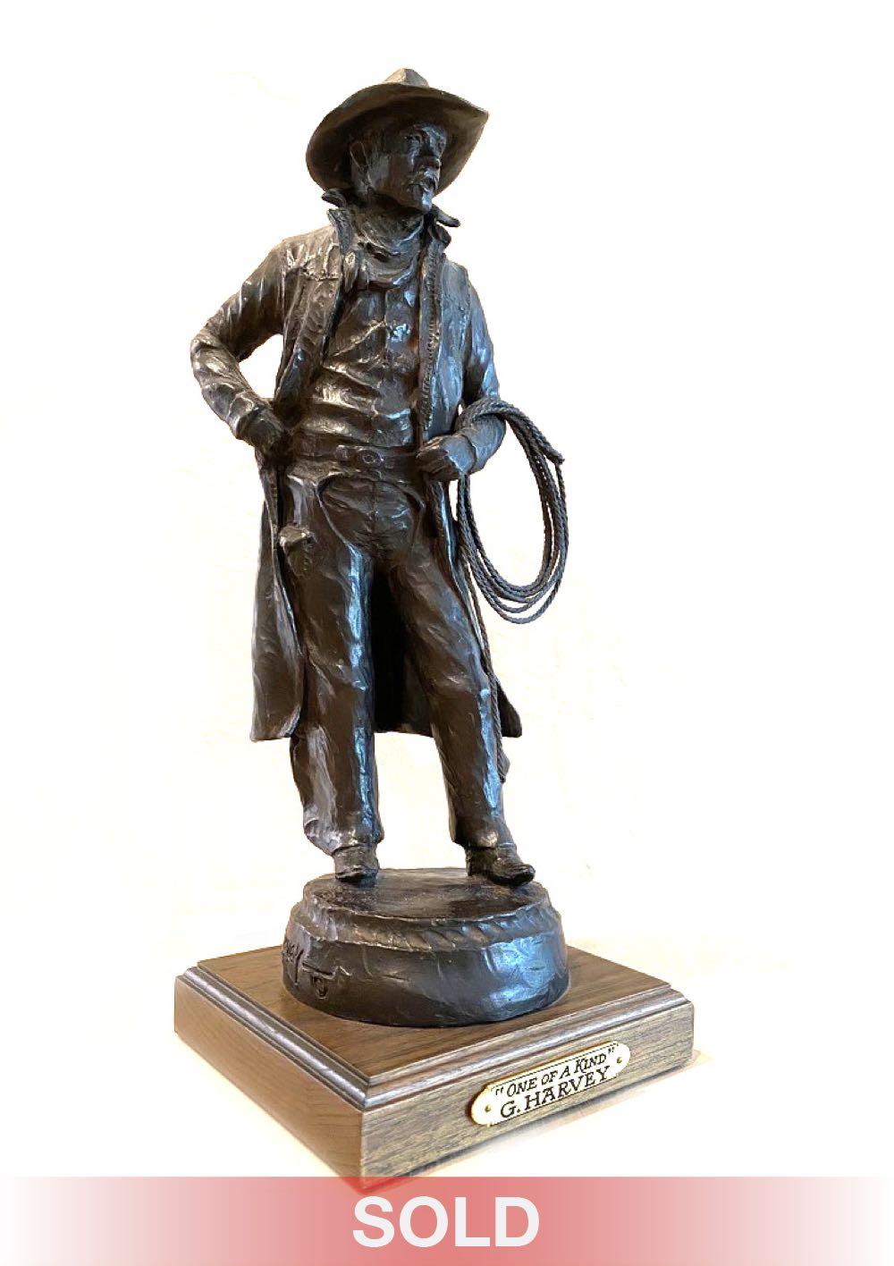 G. Harvey One of a Kind cowboy western bronze sculpture