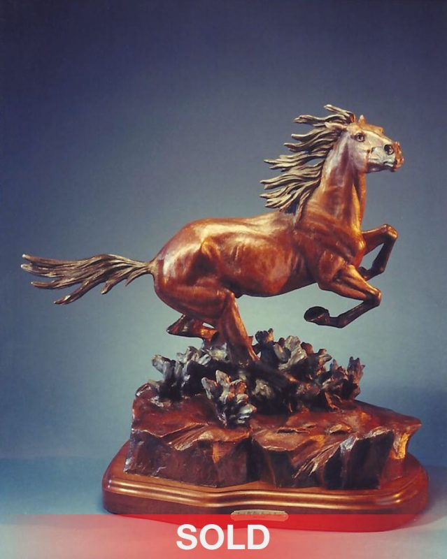 Ken Payne Lord Of The Purple Sage horse mustang western bronze sculpture sold