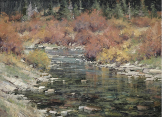 Matt Smith North Fork Creek stream river babbling brook western landscape painting