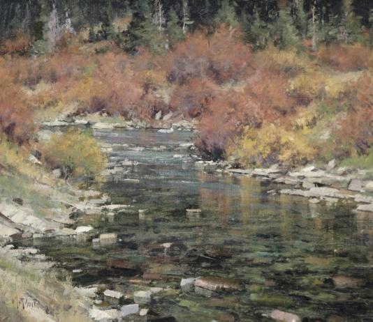 Matt Smith North Fork Creek stream river babbling brook western landscape painting