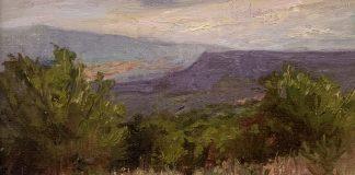 Anita Louise West Mesa Morning high mountain landscape oil painting