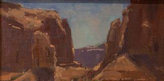 Ann Larsen Monuments Monument Valley landscape oil painting