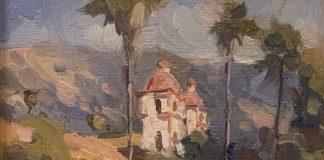 Brent Jensen Santa Barbara Mission architecture architectural oil painting