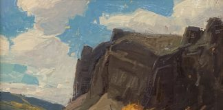 Jerry Markham Rise Of Fall mountain cloud western oil landscape painting