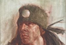 Jim Norton Native American warrior man portrait oil painting