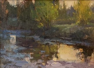 Kyle Paliotto May Fire stream river creek landscape oil painting