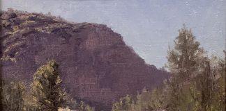 Richard Prather Sunny Canyon desert mountain landscape oil painting