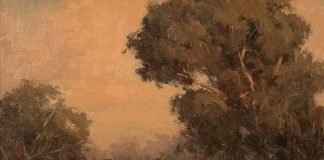 Terry Miura Eucalyptus tree landscape oil painting