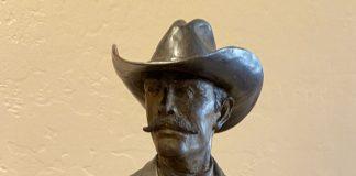 Bill Nebeker The Ranger Texas Ranger cowboy western bronze sculpture close up