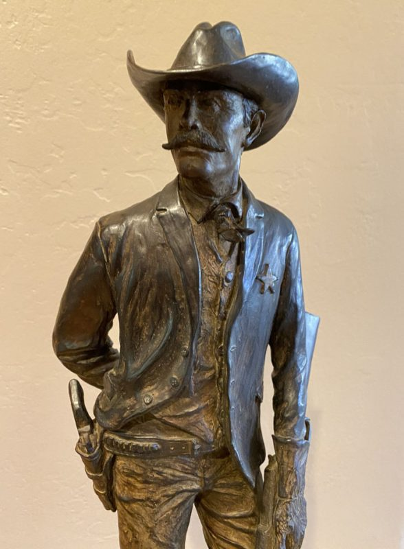 Bill Nebeker The Ranger Texas Ranger cowboy western bronze sculpture close up