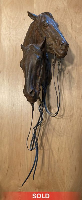Mehl Lawson Siesta horse horses horse head equine western bronze sculpture