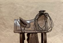 Rogers Aston Texas Saddle Circa 1860 cowboy saddle western bronze sculpture
