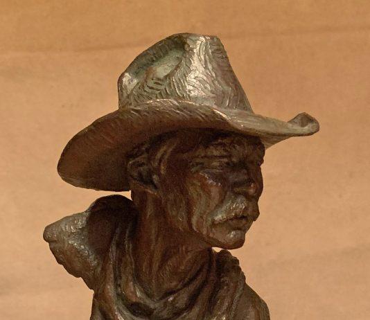 Scott Myers To The Catchpin cowboy bust western bronze sculpture