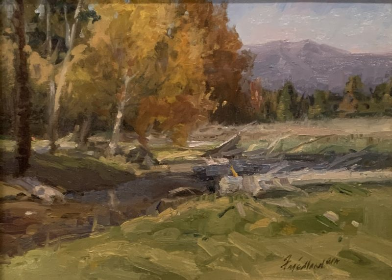 Howard Friedland Near Lincoln western landscape oil painting