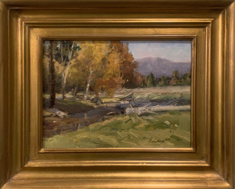 Howard Friedland Near Lincoln western landscape oil painting framed
