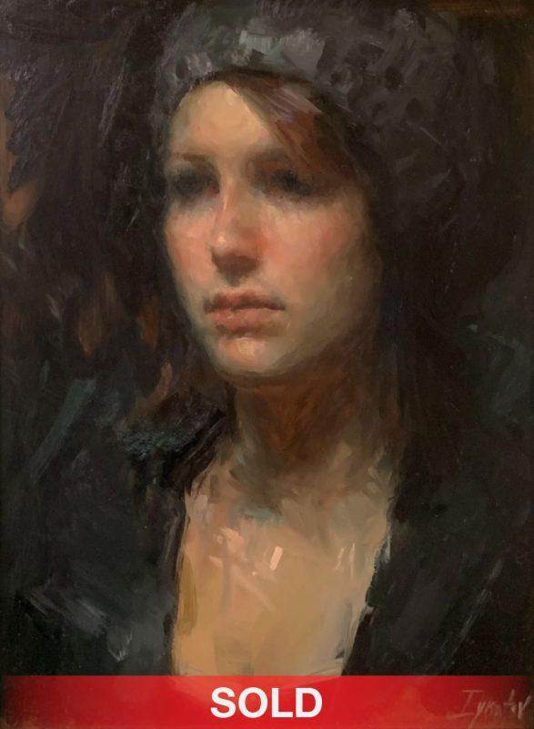 Ignat Ignatov portrait woman oil painting sold