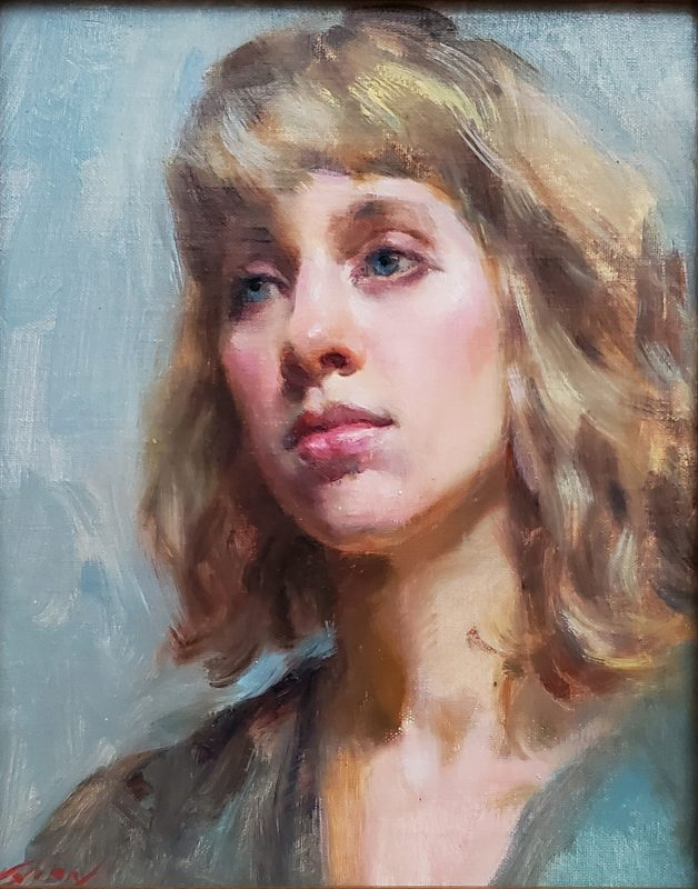 Mary Qian Camille female woman girl figure figurative portrait oil painting