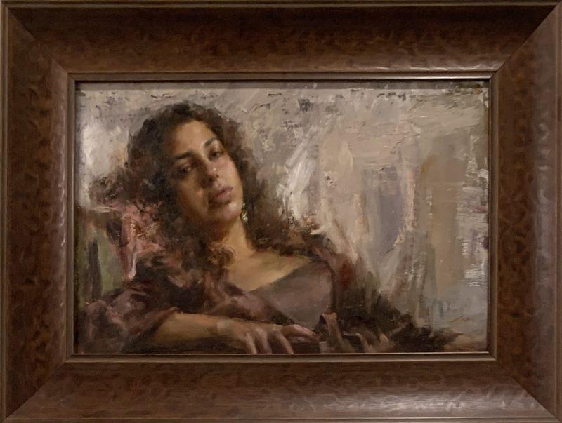 Mary Qian Kathy figure figurative portrait woman girl oil painting