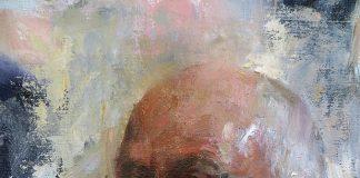 Mary Qian Sam male man portrait figure figurative oil painting beard